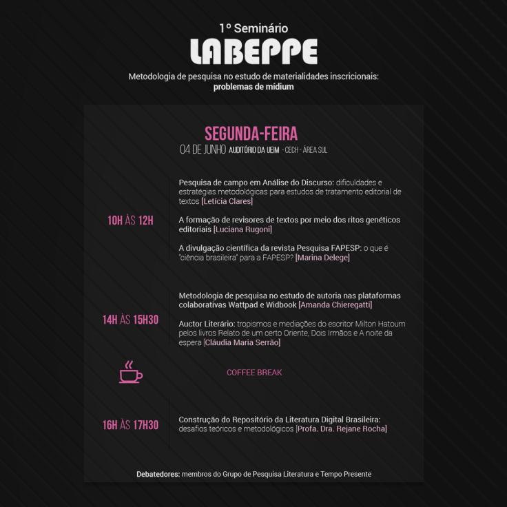 Seminário LABEPPE - segunda-feira